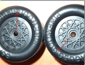 pinewood derby wheel flaws